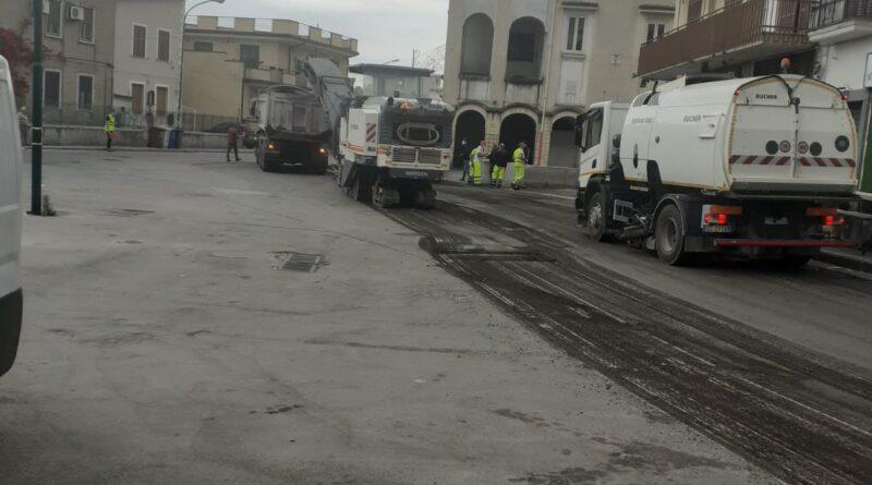 Nola, partita la riqualificazione di piazza Narni Mancinelli ed il completamento di via Nola San Gennaro